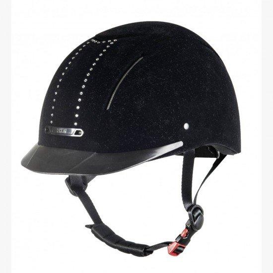 Шлем для верховой езды York Flock Crystal, HKM