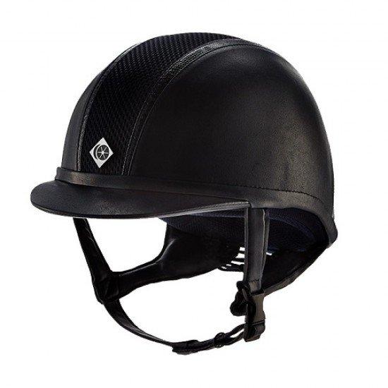 Шлем для верховой езды AYR8 Trim Leather Look, Charles Owen