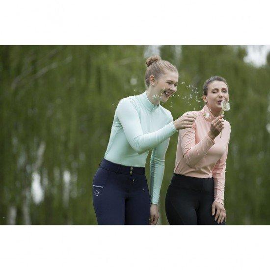 Футболка для конного спорта женская с длинным рукавом Cool, HKM