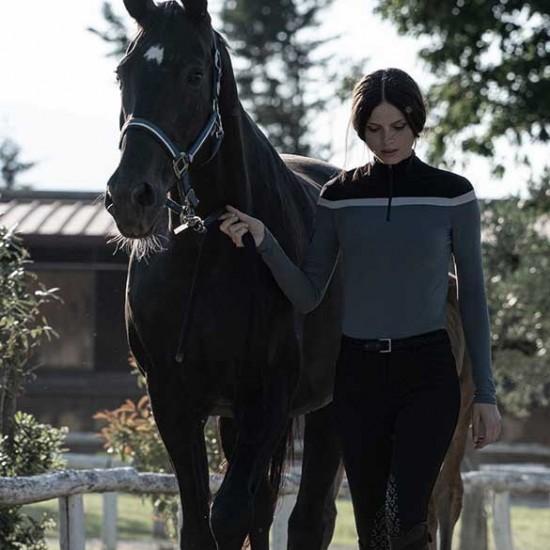Поло с длинным рукавом женская Multi Stripe, Cavalleria Toscana