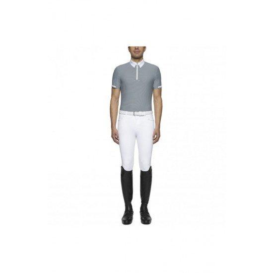Футболка мужская турнирная с коротким рукавом Bi-Color Tie Holder S/S, Cavalleria Toscana
