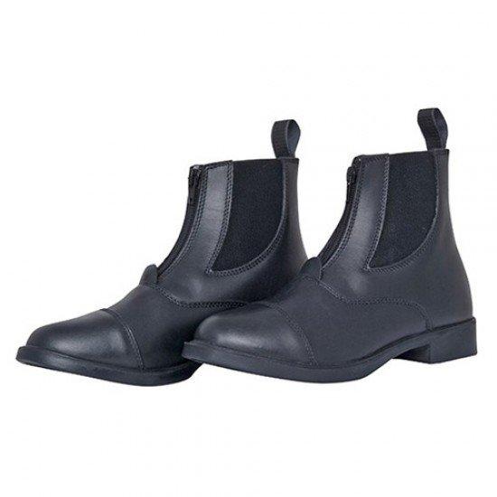 Ботинки для верховой езды кожаные с эластичной вставкой и замком, HKM