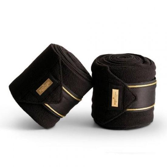 Бинты флисовые Equestrian Stockholm BLACK EDITION Gold