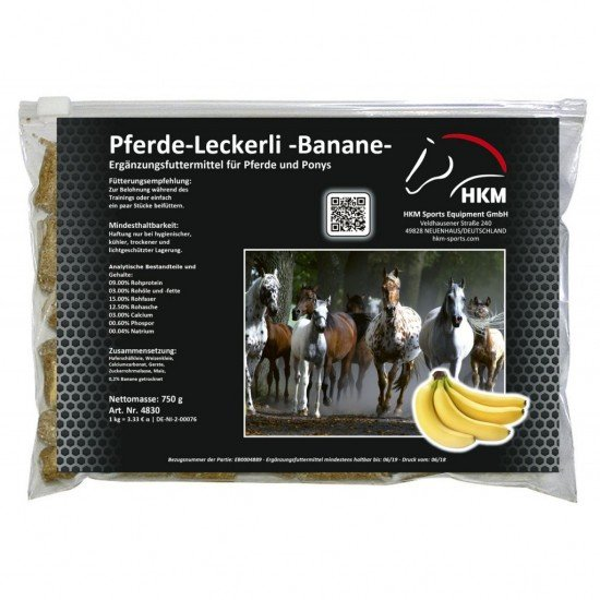 """Лакомства для лошади"""" Leckerli """", HKM, с бананом"""