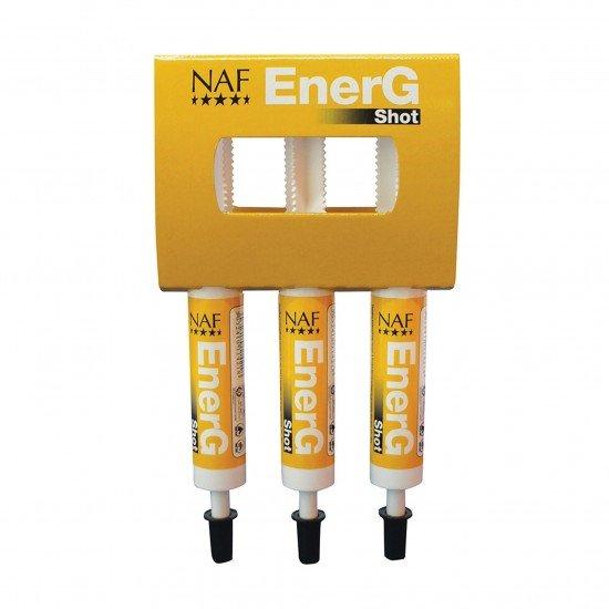 Паста для лошади для быстрого заряда энергии Energ Shot, набор из трех шприцов, NAF 5 Stars