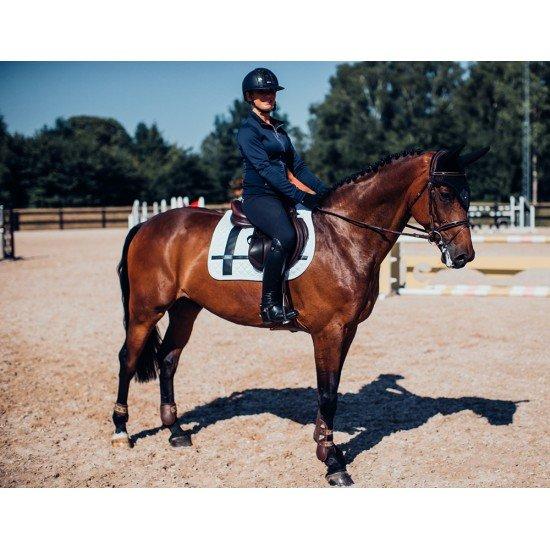 Вальтрап конкурный Equestrian Stockholm White leather